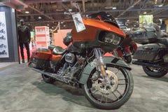 Harley-Davidson Road Glide op vertoning royalty-vrije stock fotografie