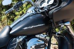 Harley Davidson Road Glide Special-gashouder royalty-vrije stock foto's