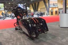 Harley Davidson Road Glide Special op vertoning royalty-vrije stock foto's