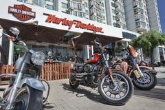 Harley Davidson shoppar, Peking, Kina Arkivfoton