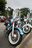 Harley Davidson show. GRANTOWN ON SPEY, SCOTLAND - AUGUST 25: Harley Davidson on display in the annual Thunder in the Glens event on August 25, 2012 in Grantown Stock Photo