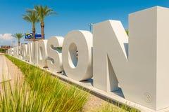 Harley Davidson sign for the Las Vegas Harley Dealership royalty free stock image