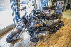 2014 Harley-Davidson, Softail delgado Imagen de archivo libre de regalías