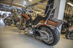 2008 Harley-Davidson, Softail-Douane Stock Foto
