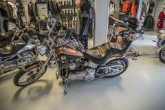 2008 Harley-Davidson, Softail-Douane Stock Fotografie