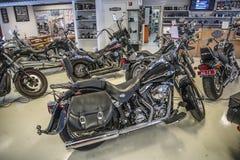 2009 Harley-Davidson, Softail-Gewohnheit Lizenzfreies Stockfoto