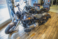 2014 Harley-Davidson, Softail magro Imagens de Stock Royalty Free