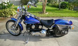 1990 Harley Davidson. Softail Springer custom, vintage, motorcycle Stock Photos