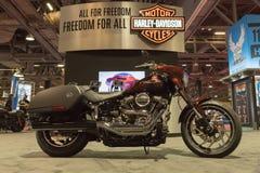 Harley-Davidson Sport Glide op vertoning stock foto