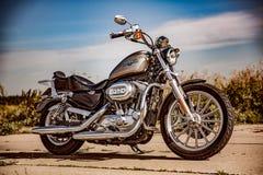 Harley-Davidson - Sportster 883 bas Photographie stock libre de droits