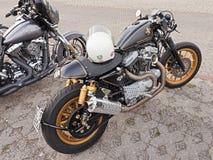 Harley Davidson Sportster Cafè Racer Stock Photo