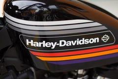 Harley Davidson Sportster Model-Behälter lizenzfreies stockfoto
