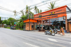 Harley Davidson store Samui. Motorcycle is an essential means of transport in Thailand, then many knights will choose the Harley travel in Koh Samui Stock Photography