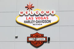 Harley Davidson store. Sign in front of the  Harley Davidson store in Las Vegas Royalty Free Stock Image