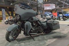 Harley-Davidson Street Glide op vertoning stock fotografie