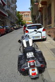 Harley Davidson Thessaloniki street Royalty Free Stock Photo