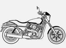 Harley Davidson ulicy 500 klamerki sztuka Obraz Stock
