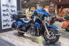 Harley-Davidson Ultra Limited 115. årsdag på skärm Royaltyfri Bild