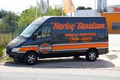Harley Davidson van Royalty Free Stock Photo