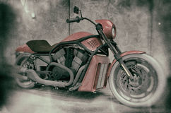Harley Davidson Vintage Motorcycle. High quality illustration of Harley Davidson motorcycle with vintage old photography style rendering Royalty Free Stock Photo