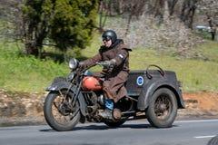 Harley 1947 Davidson WL Trike Стоковое фото RF