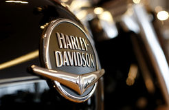 Harley Davidson Zeichen Stockfotos