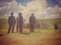 Harley And The Davidsons ,overfiltered artistic picture from romania documentary filmed by Discovery Channel Royalty Free Stock Photo