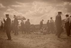 Harley And The Davidsons ,overfiltered artistic picture from romania documentary filmed by Discovery Channel Royalty Free Stock Photography