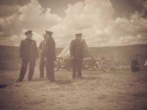 Harley And The Davidsons ,overfiltered artistic picture from romania documentary filmed by Discovery Channel Stock Image