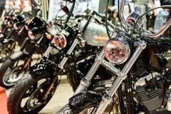 Harley-Davison op vertoning Stock Foto's