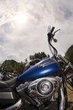Harley en hemel Stock Foto's