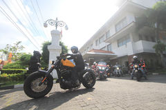 Harley lovers gather stock photography