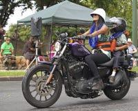 Harley Mom & figlio Fotografia Stock Libera da Diritti