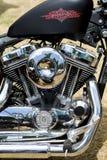 Harley-motor Royaltyfri Foto