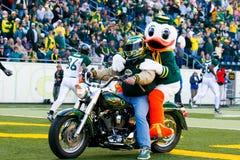 Harley Motorcycle Entrance at Autzen Stadium Stock Images