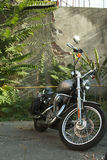 Harley Motorcycle im Freien Lizenzfreie Stockfotos