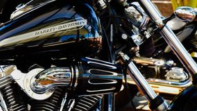 Harley motorcycle polish grooming. Wheel motorcycle auto stock photography