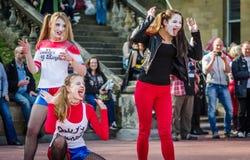 Harley Quinn cosplay Стоковые Фото