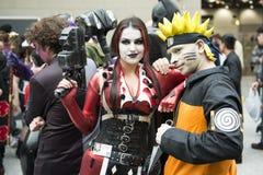 Harley Quinn e Naruto. Immagine Stock