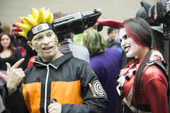 Harley Quinn e Naruto. Immagine Stock Libera da Diritti