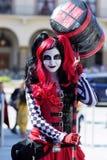 Harley Quinn met Hamer Cosplay royalty-vrije stock afbeelding
