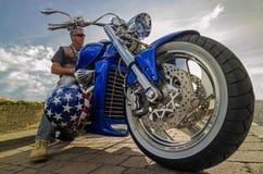 Harley siekacza prędkości władzy amerykański post Fotografia Royalty Free