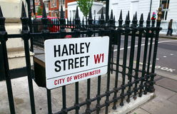 Harley Street London Immagine Stock