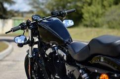 harley stupefacente nero davidson del motociclo fotografia stock