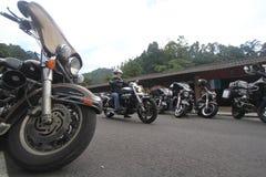Harley vänhopsamling Arkivfoto