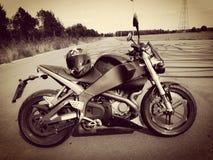 Harley van de Buell motocycle helm davidson Stock Afbeeldingen