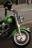 Harley verde clássico Fotos de Stock Royalty Free