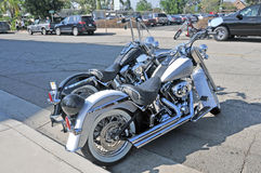 Harleys和砍刀 免版税库存图片