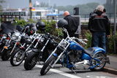 Harleys al Reno Fotografie Stock Libere da Diritti