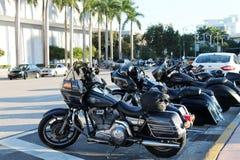 Harleys bij het Strand van Miami royalty-vrije stock foto